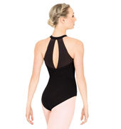 Halter Leotard with Satin Trim