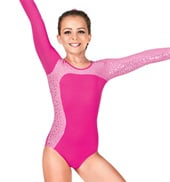 Girls Long Sleeve Gymnastics Leotard