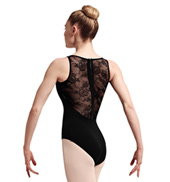 Adult Elah Lace & Ribbon Zip Back Tank Leotard