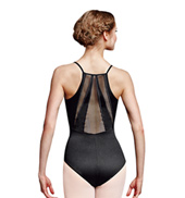 Adult Topaz Diamond Mesh Paneled Camisole Leotard