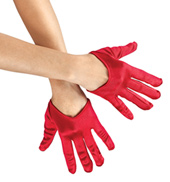 Adult Mini Cropped Satin Gloves