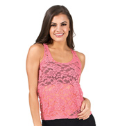 Adult Hi-Lo Lace Tank Top