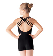 Girls Triple Strap Tank Shorty Unitard