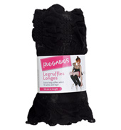 Adult/Girls Black Ruffle Legwarmers