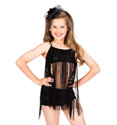 Child Fringe Sequin Bra Top