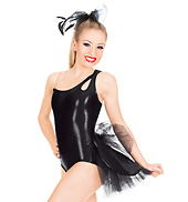 One Shoulder Leotard with Bustle