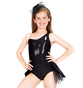 Child One Shoulder Leotard with Bustle
