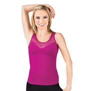 Adult Seamless Lace Tank Top