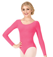 Girls Brushed Cotton Long Sleeve Dance Leotard