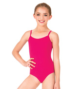 Girls Brushed Cotton Camisole Dance Leotard