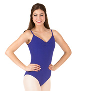 Adult Brushed Cotton Pinch Front Camisole Dance Leotard