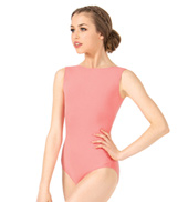 Adult Brushed Cotton Boat Neck Tank Dance Leotard