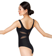 Adult Mesh Keyhole Back Tank Leotard