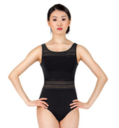 Adult Jacquard Stripe Mesh Tank Leotard