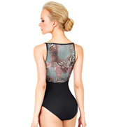 Adult Animal Print Mesh Camisole Leotard