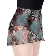 Adult Animal Print Mesh Ballet Skirt