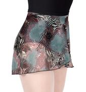 Adult Animal Print Mesh Ballet Skirt