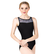 Adult Floral Mesh Tank Dance Leotard