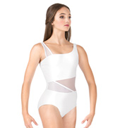Adult Striped Mesh Tank Dance Leotard