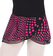 Girls Polka Dot Pull-On Wrap Skirt