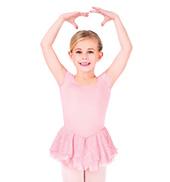 Child Cap Sleeve Iridescent Spot Dress