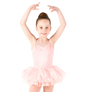 Girls Camisole Glitter Mesh Tutu Dress