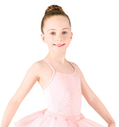 Girls Camisole Diamante Swirl Tutu Dress
