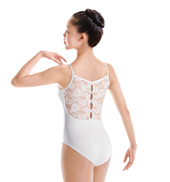 Lace Back Camisole Leotard