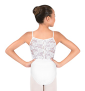 Girls Lace Back Camisole Leotard