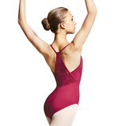 Peacock Plume Racer Back Camisole Leotard
