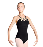 Adult Rouleaux Loop High Neck Camisole Leotard
