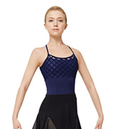Adult Geometric Mesh Camisole Leotard