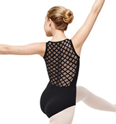 Adult Geometric Mesh Back Camisole Leotard