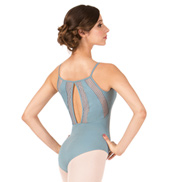 Adult Stripe Mesh Camisole Leotard