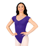 Pinch Front Cap Sleeve Leotard