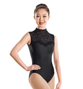 Flocked High Neck Tank Leotard
