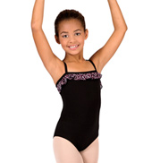 Girls Camisole Leotard with Ruffle Trim