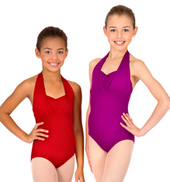Girls Double Halter Leotard