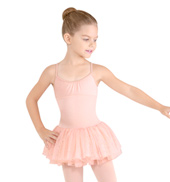Girls Sequin Stripe Camisole Tutu Dress