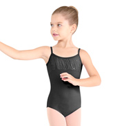 Girls Sequin Stripe Camisole Leotard