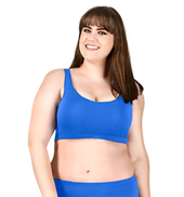 Adult Plus Size Racerback Tank Bra Top