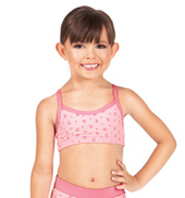 Girls Heart Print Camisole Bra Top