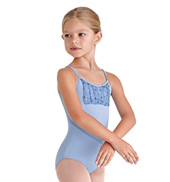 Girls Daisy Sequin Bust Camisole Leotard