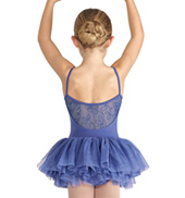 Girls Mesh Back Camisole Tutu Dress