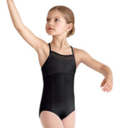 Girls Mesh X-Back Camisole Leotard