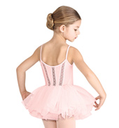 Girls Floral Stretch Lace Back Camisole Tutu Dress