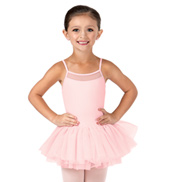 Girls Soft Mesh Camisole Dress