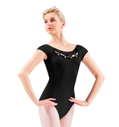 Adult Twist Cord Cap Sleeve Leotard