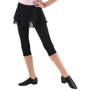 3/4 Leggings with Skirt Overlay