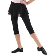 3/4 Leggings with Skirt Overlay